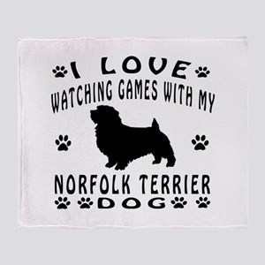 Norfolk Terrier design Throw Blanket